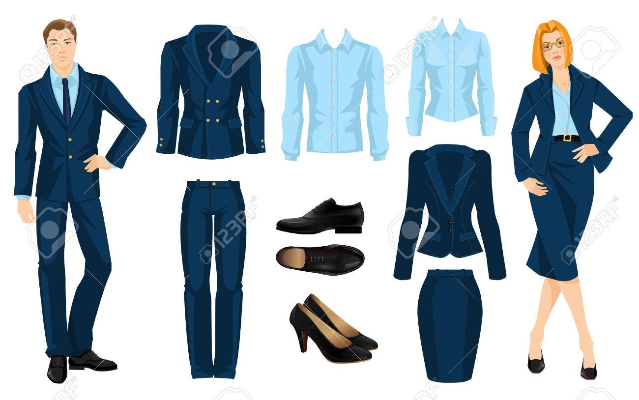 dea095100 Ilustración de código de vestimenta corporativa. Oficina uniforme. Ropa  interior para hombres de negocios. Secretario o profesor en traje formal ...