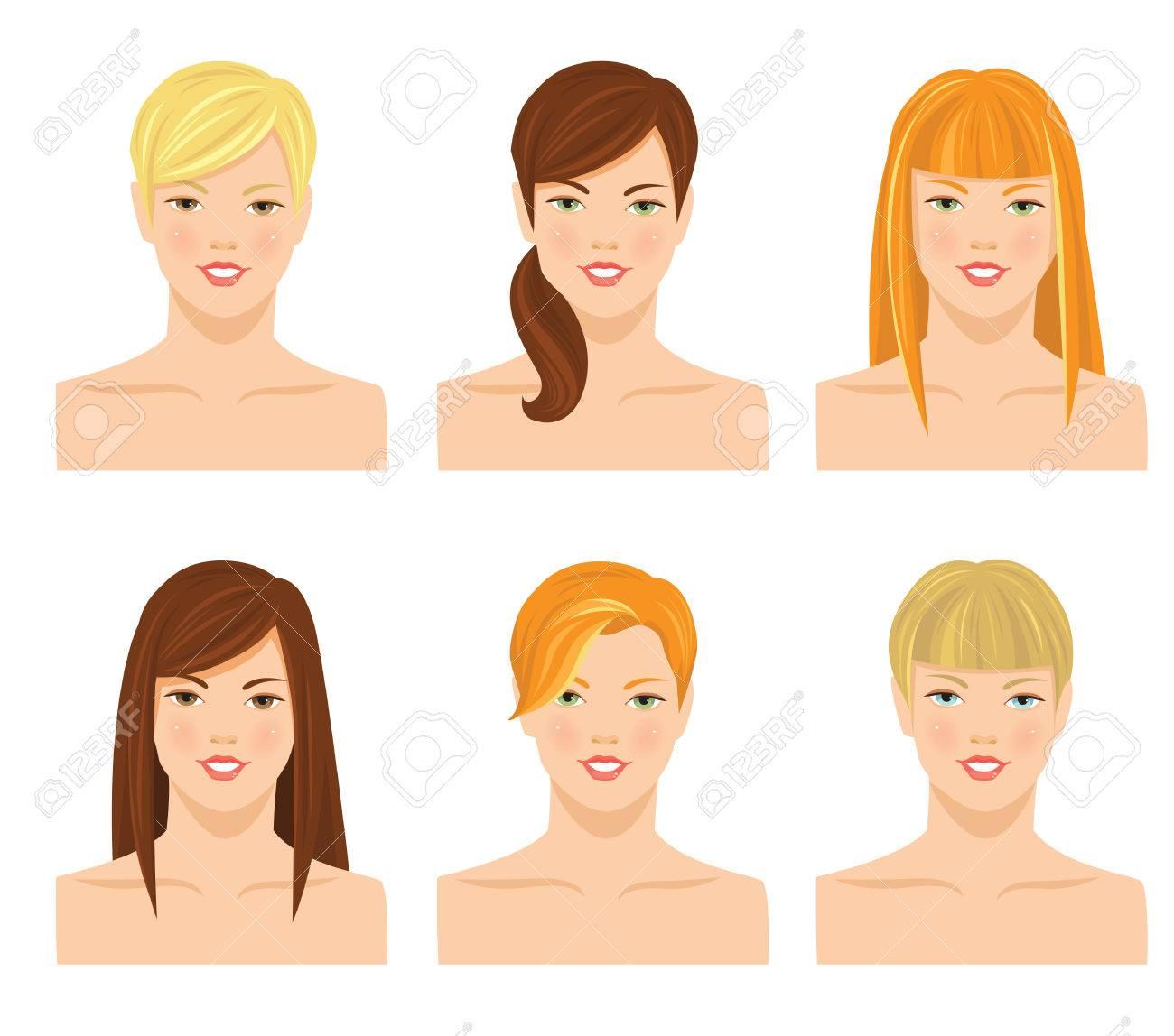 Vektor Illustrationen Von Hübschen Jungen Mädchen Mit Vaus Frisur