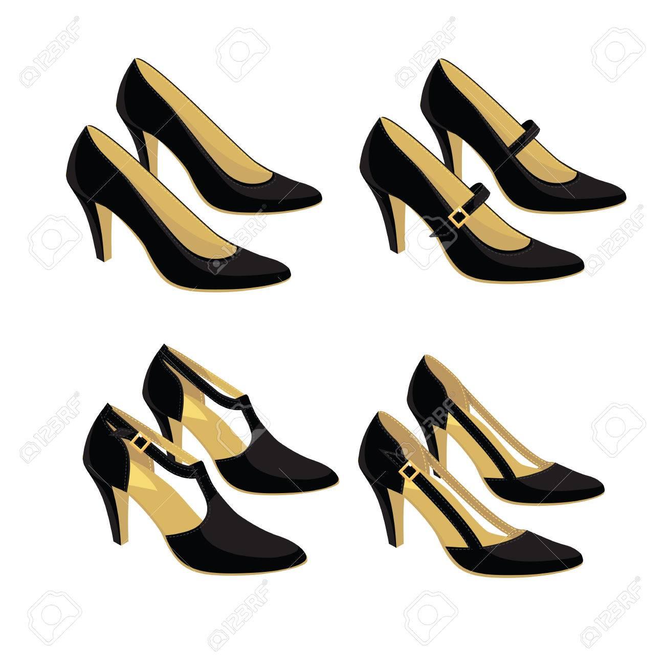 Diferentes modelos de zapatos clásicos