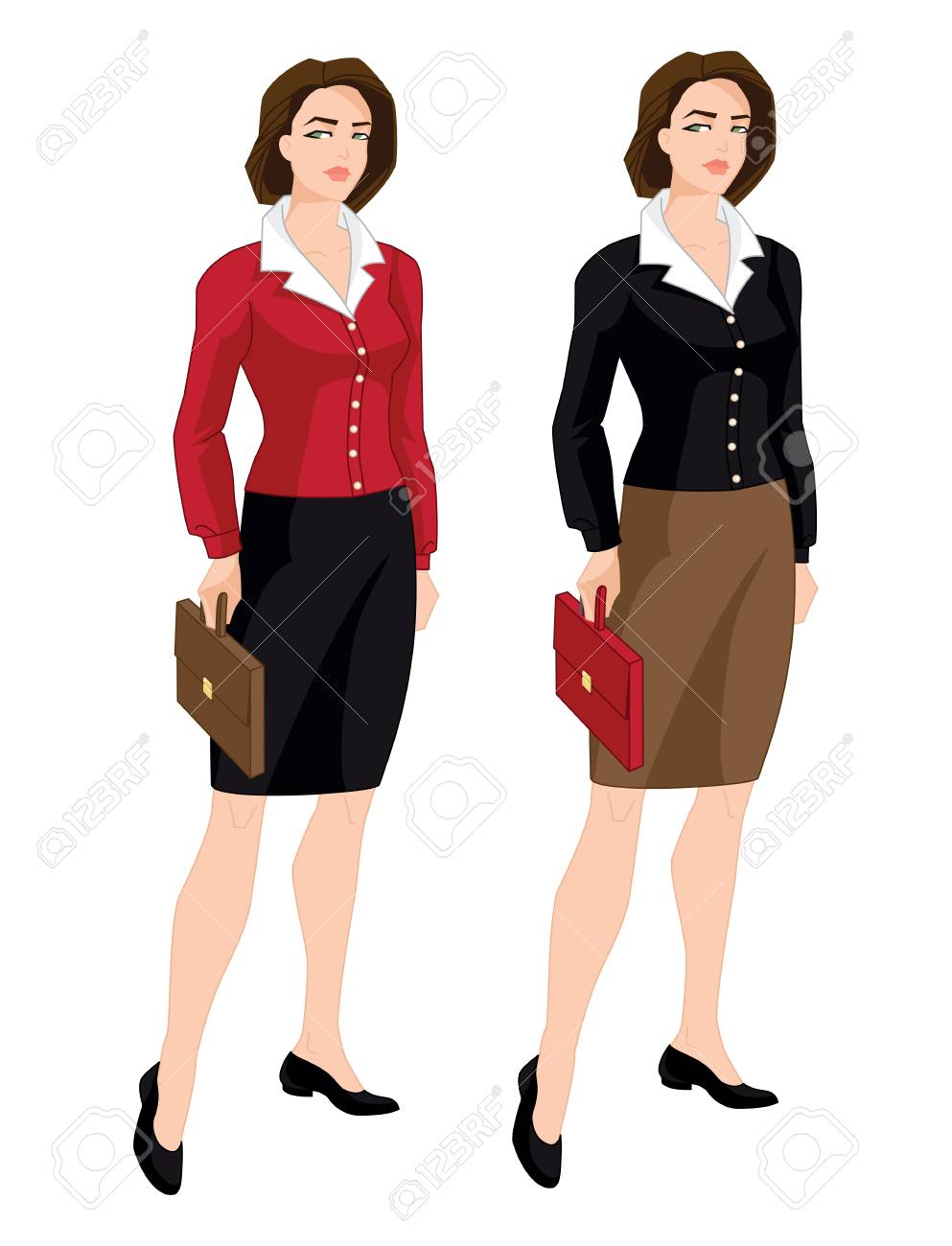 Vector Illustration Of Corporate Dress Code Business Women Or