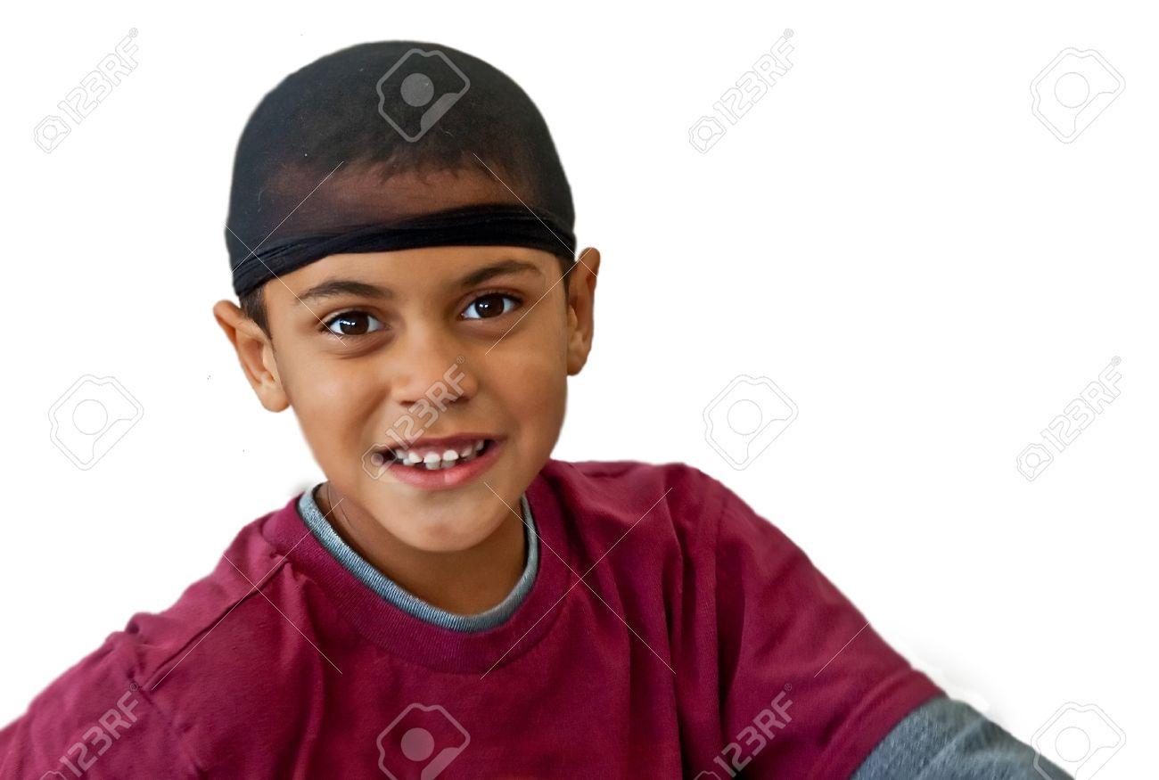 This Is A Cute 9 Year Old Bi Racial Boy Wearing A Black Hair