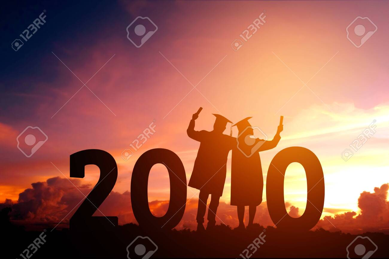 Happy Graduation 2020.2020 New Year Silhouette People Graduation In 2020 Years Education