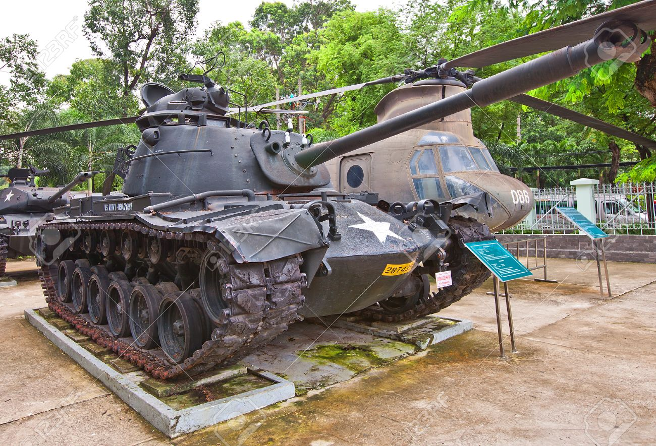 U S Main Battle Tank M Patton On The Yard Of War Remnants - War museums in usa