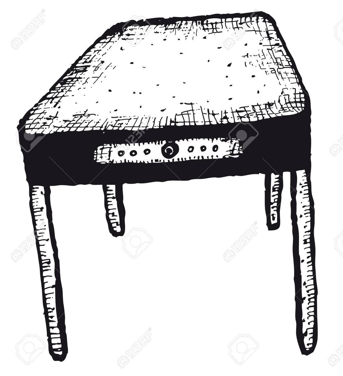 Ilustración De Una Mano Doodle Aislado Casa Cocina Tabla De Boceto ...