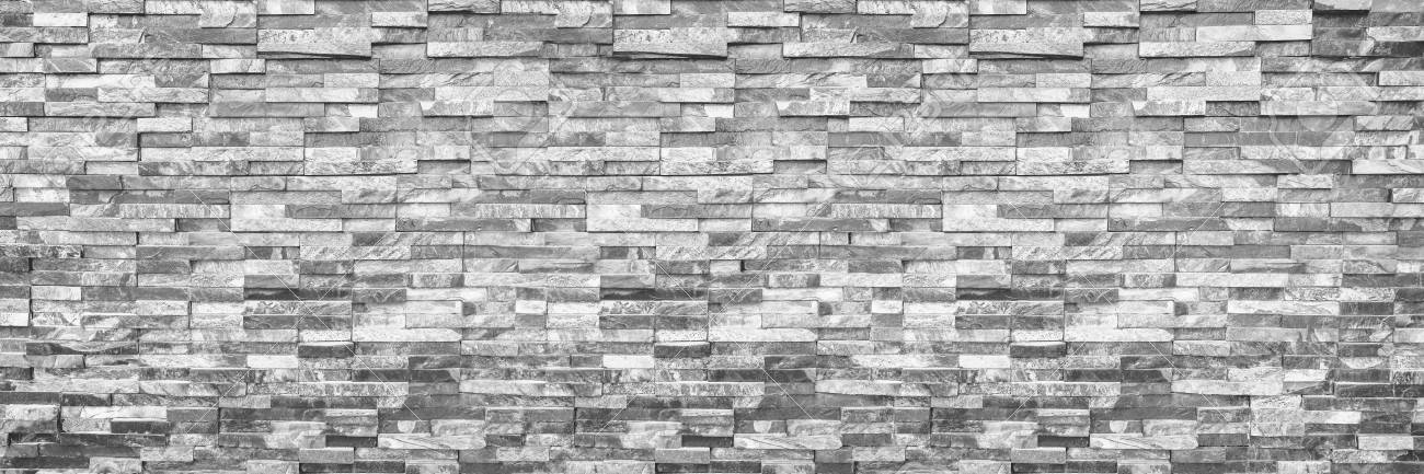 horizontal modern brick wall for pattern and background. - 86575358