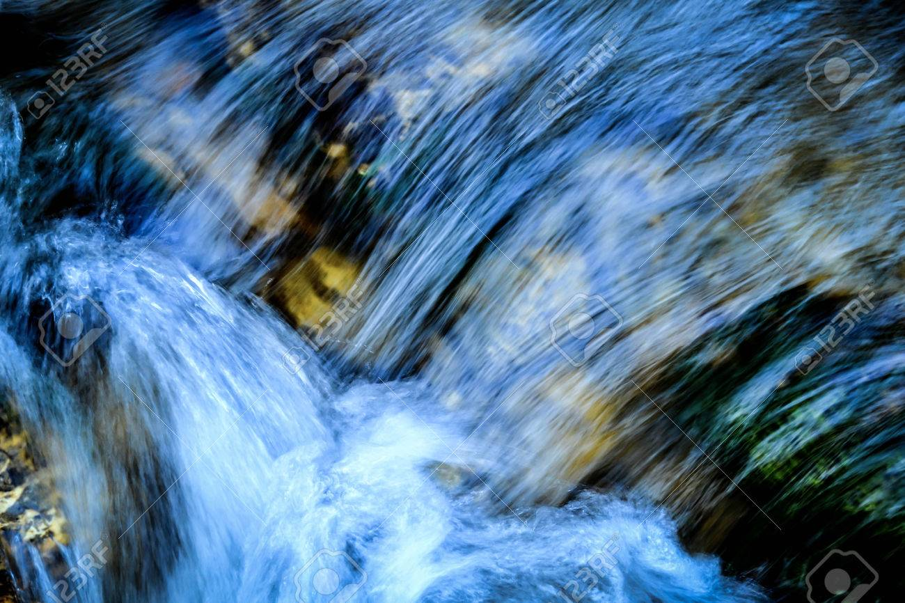 abstract background or texture blue rapids water - 33655020