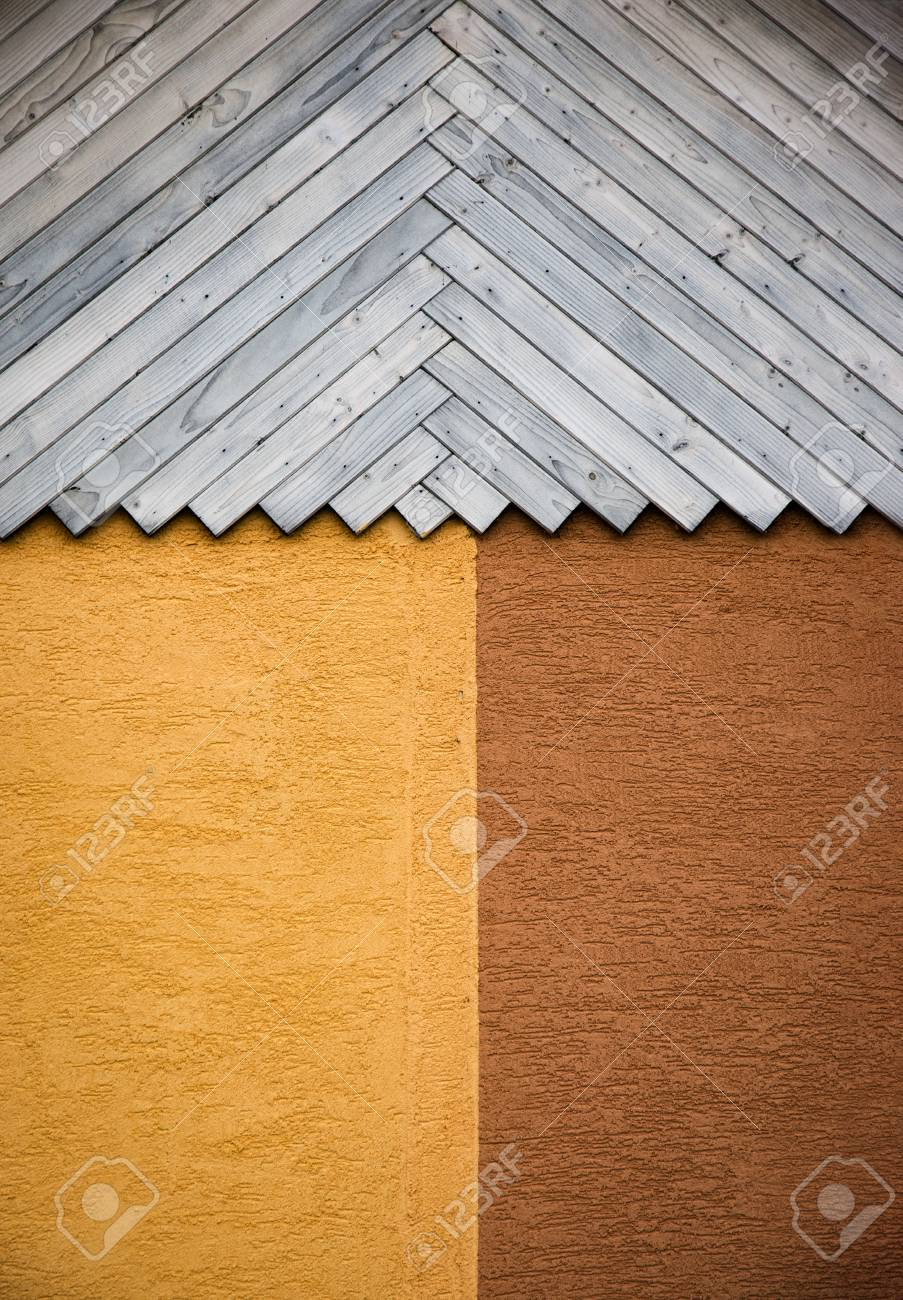 Hintergrund Abstrakte Detail Holzwand Vertäfelung Mit Gips