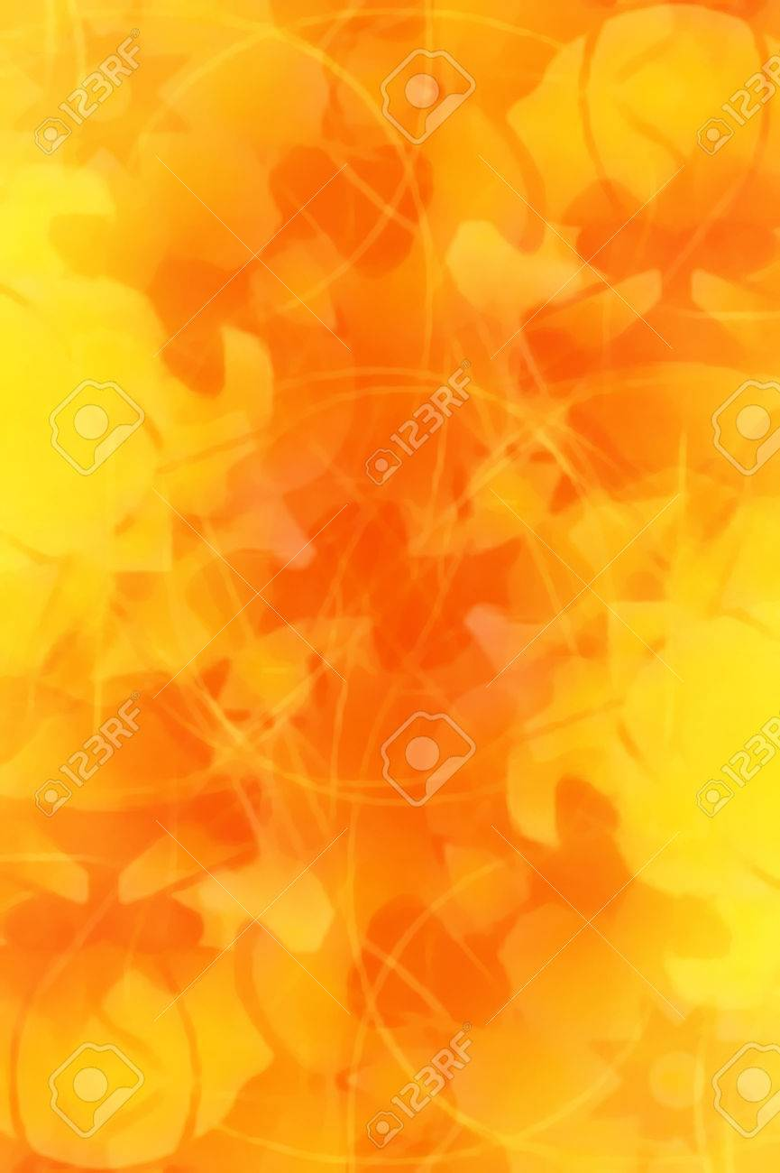 Ornamental Mandala And Color Abstract Background Orange Color