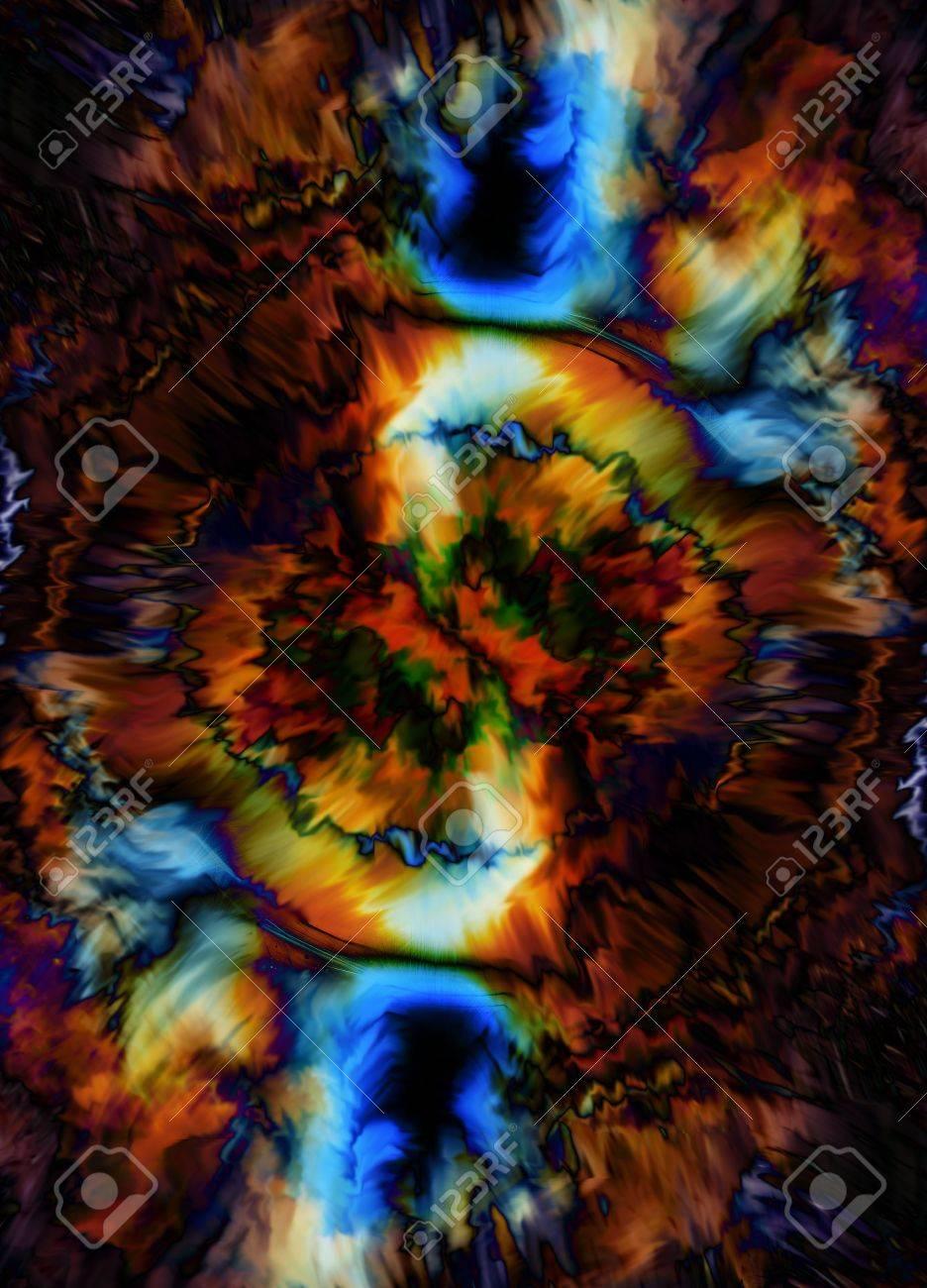 Farbe Kosmischen Raum, Mehrfarbigen Hintergrund. Malerei Wirkung ...