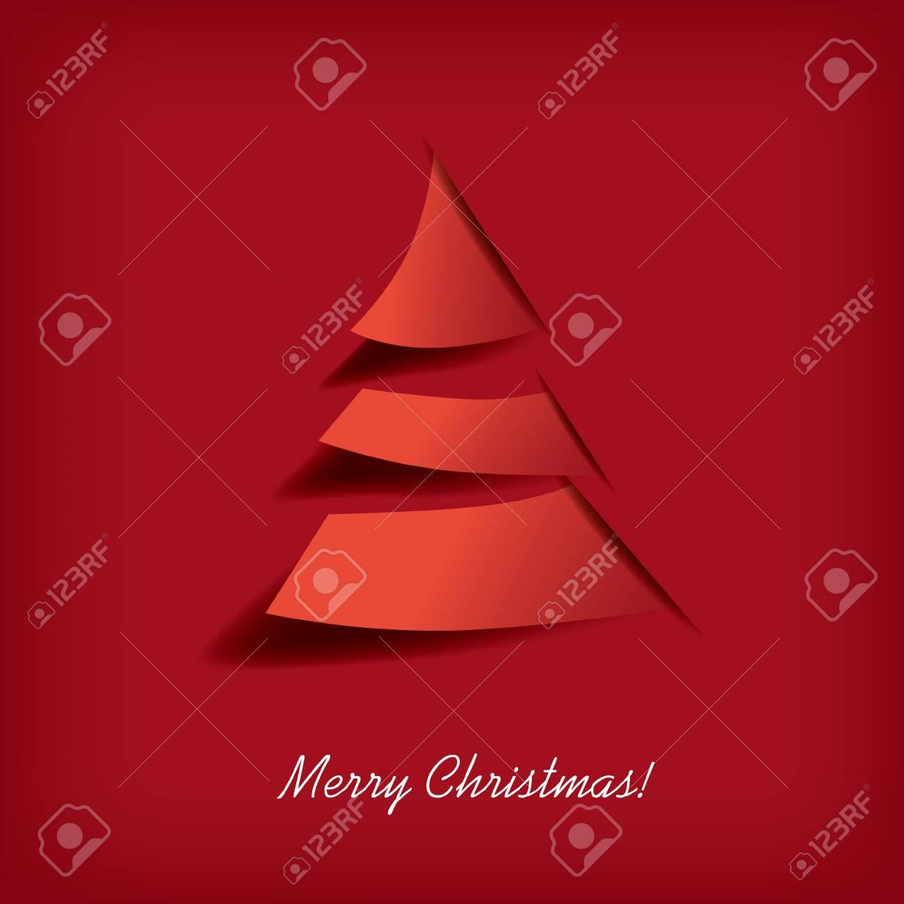 Modern Christmas Tree Design Suitable For Christmas Cards, Etc ...