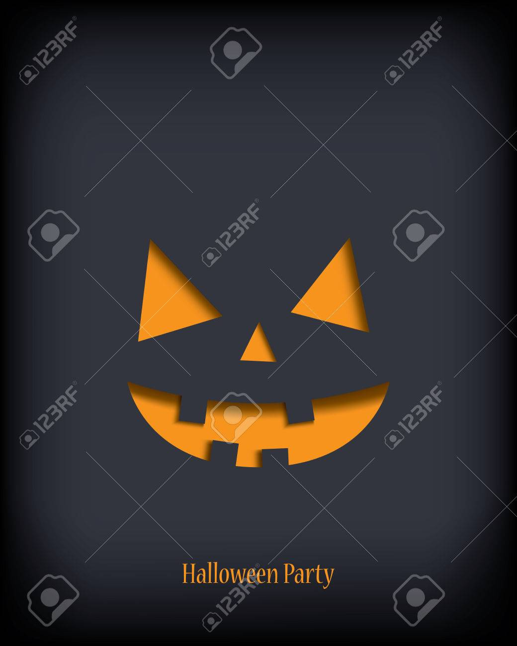 Halloween Illustration Vector Suitable For Party Invitations ...