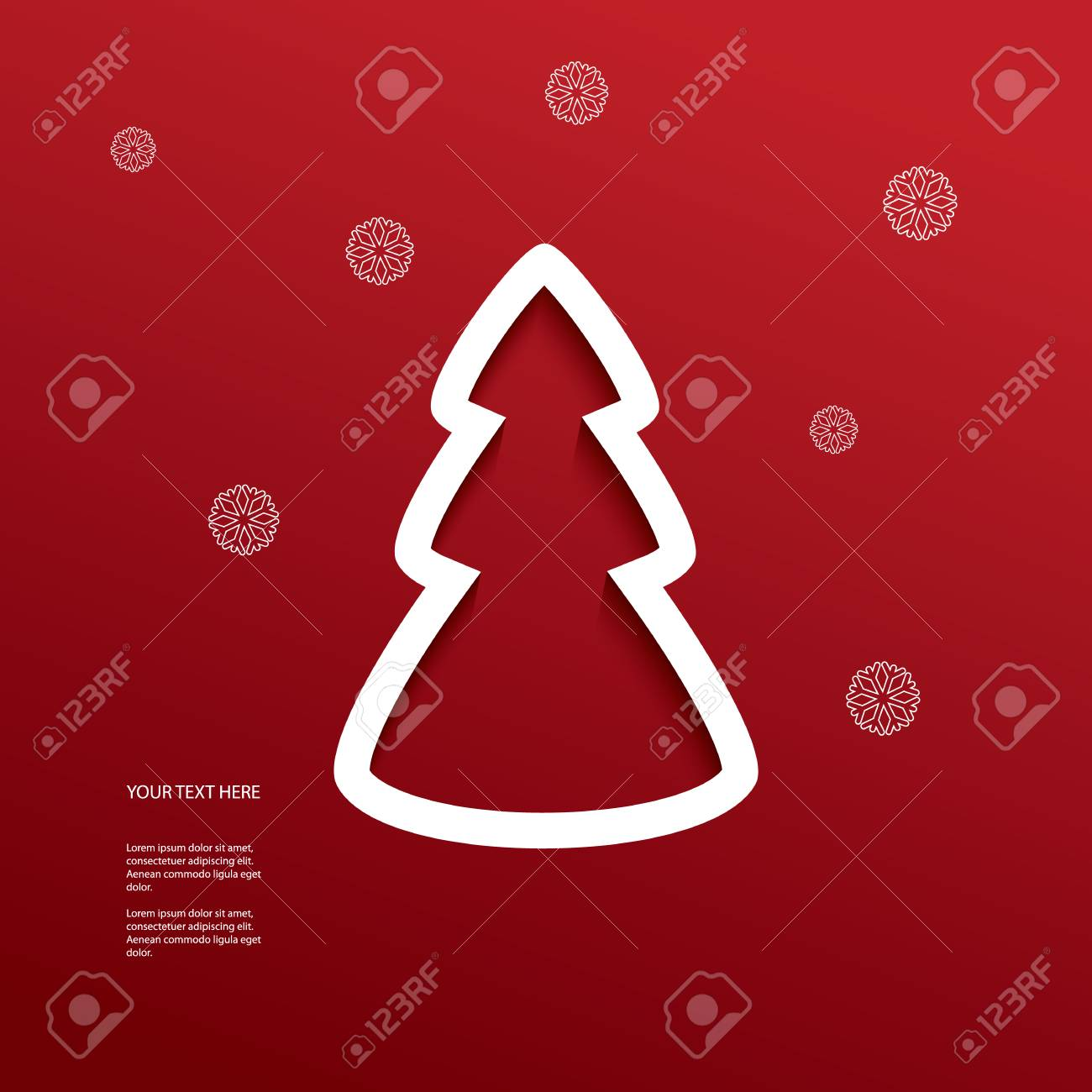 christmas illustration with cutout 3d effect suitable for christmas