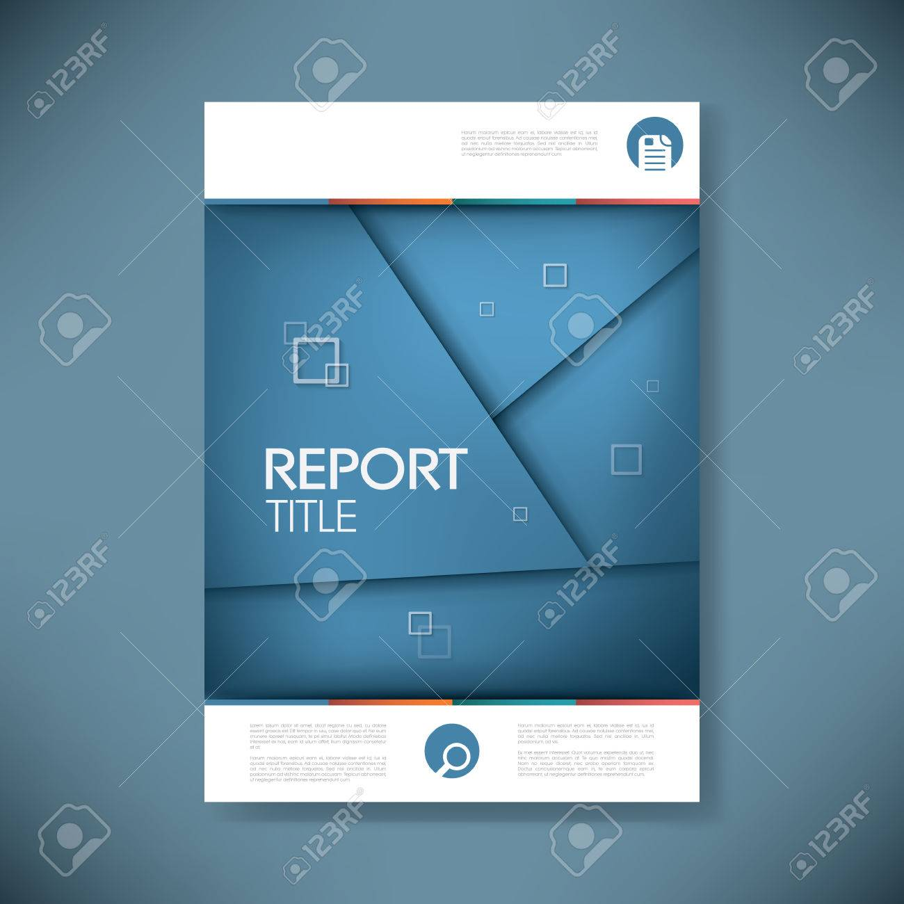 Brochure Or Annual Report Cover With Abstract Background And – Annual Report Cover Page Template