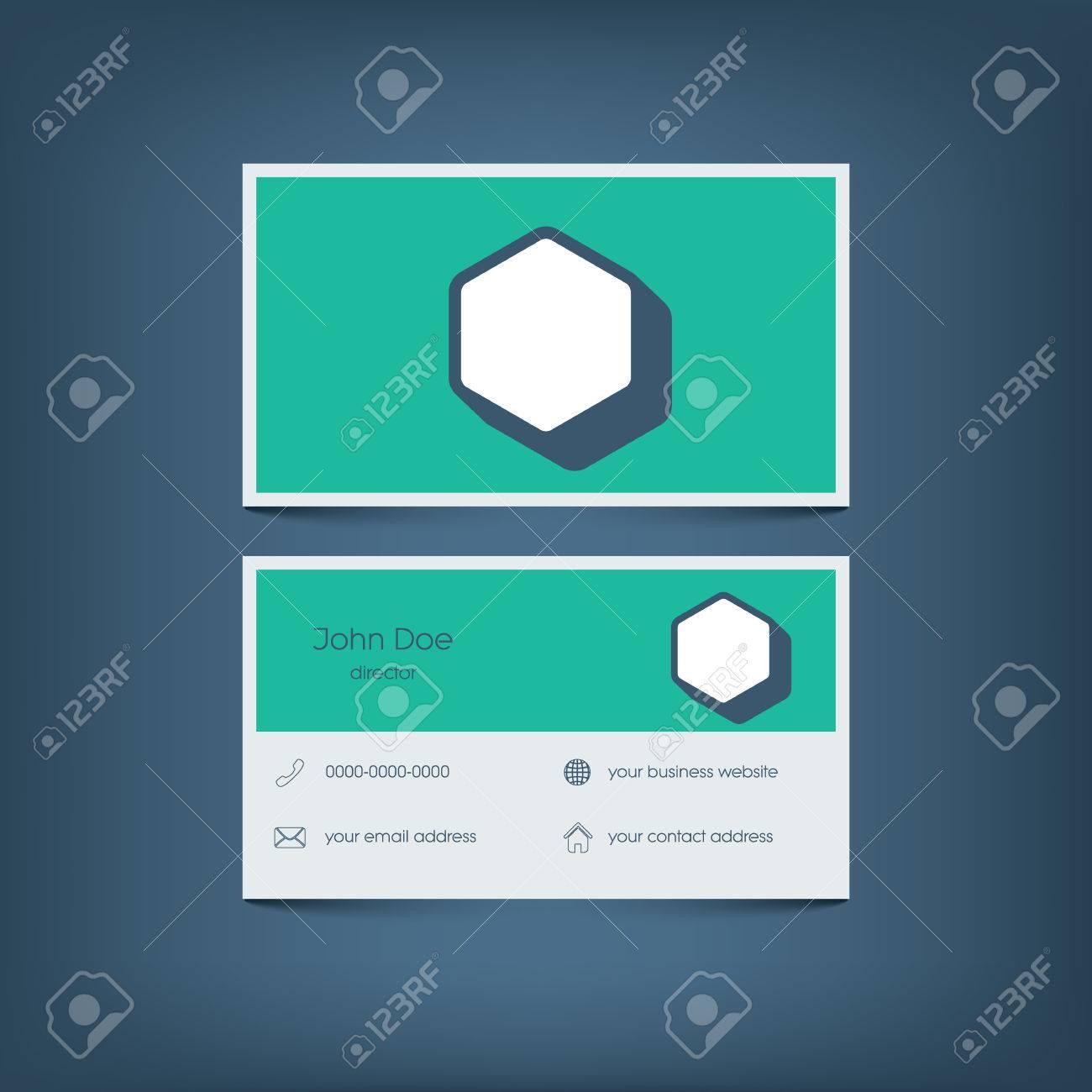 Modern flat design business card template graphic user interface modern flat design business card template graphic user interface with line icons for website magicingreecefo Gallery
