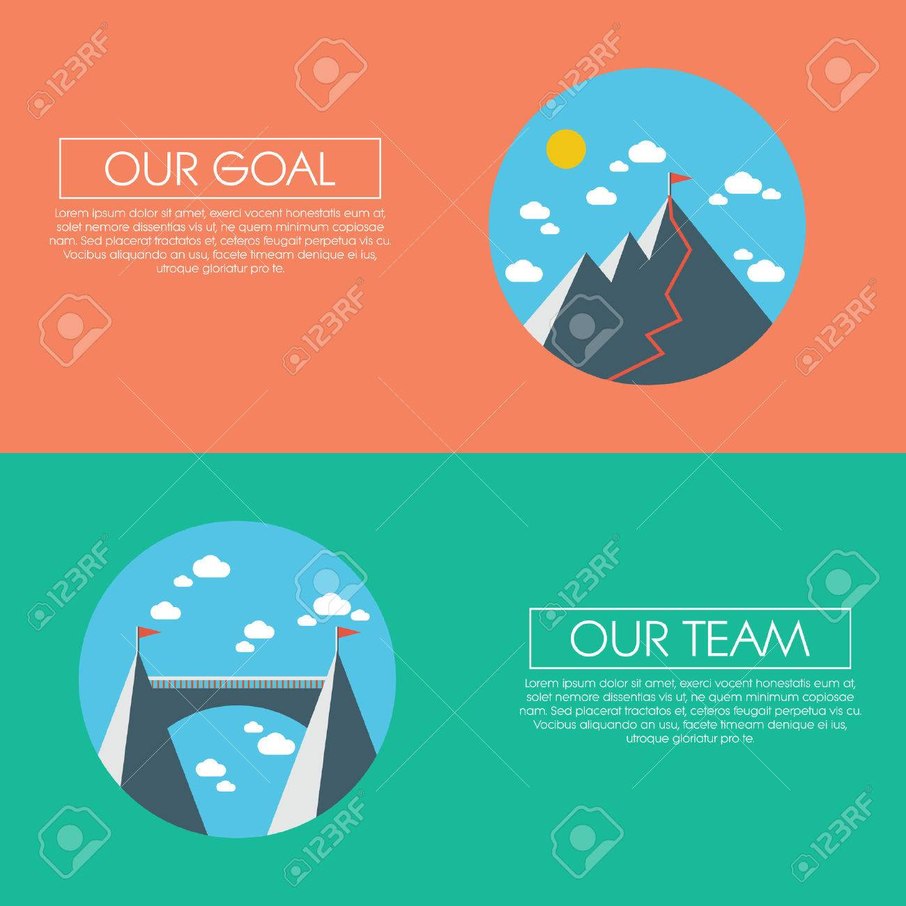 Concepto De Negocio De éxito, Objetivos, Metas, Objetivos Y Trabajo ...