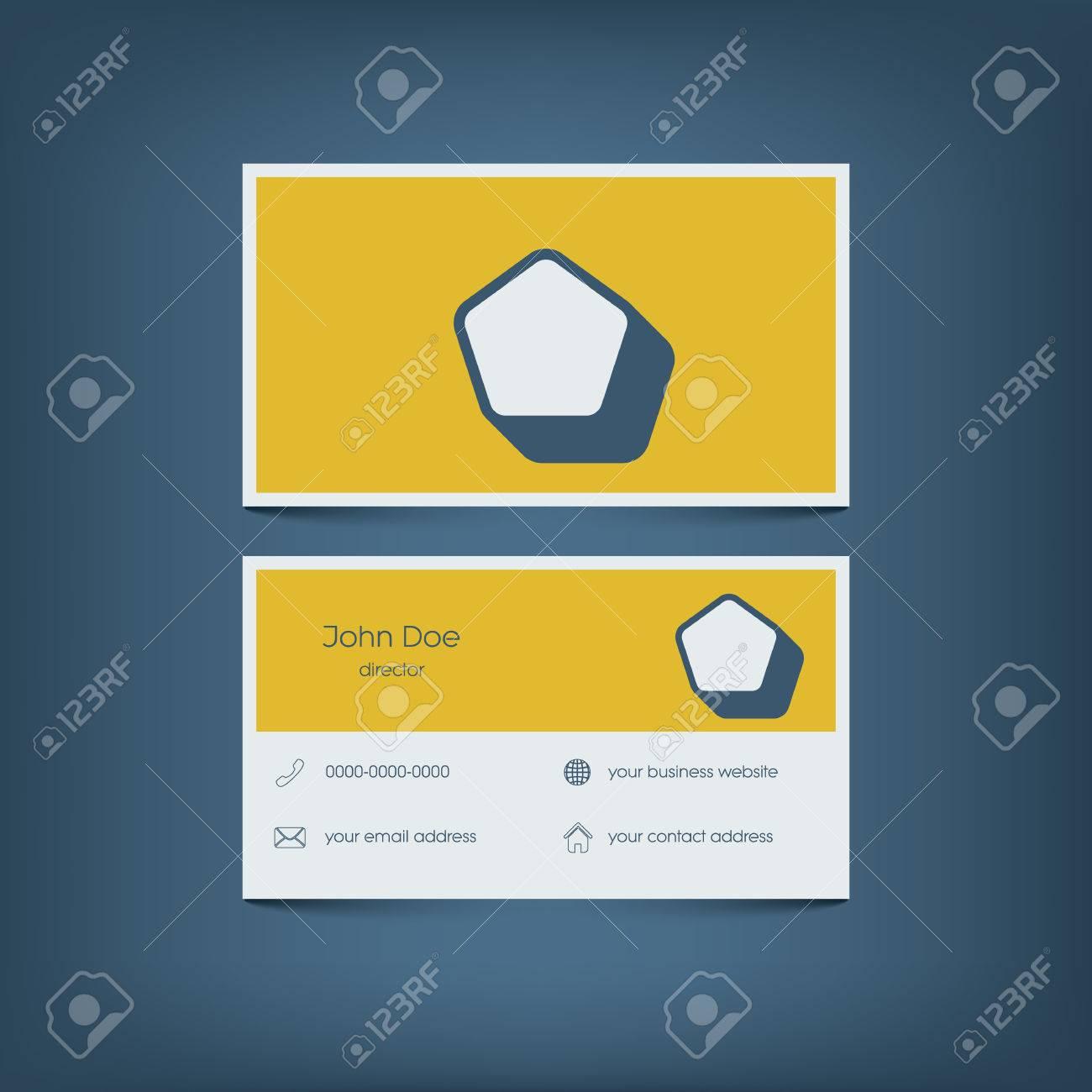Plantilla De Tarjeta De Visita Moderna Diseño Plano. Interfaz ...