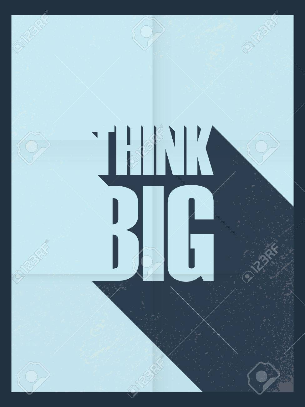 Poster design wallpaper - Think Big Motivational Poster Famous Quote Wallpaper Design Vintage Look Paper Background