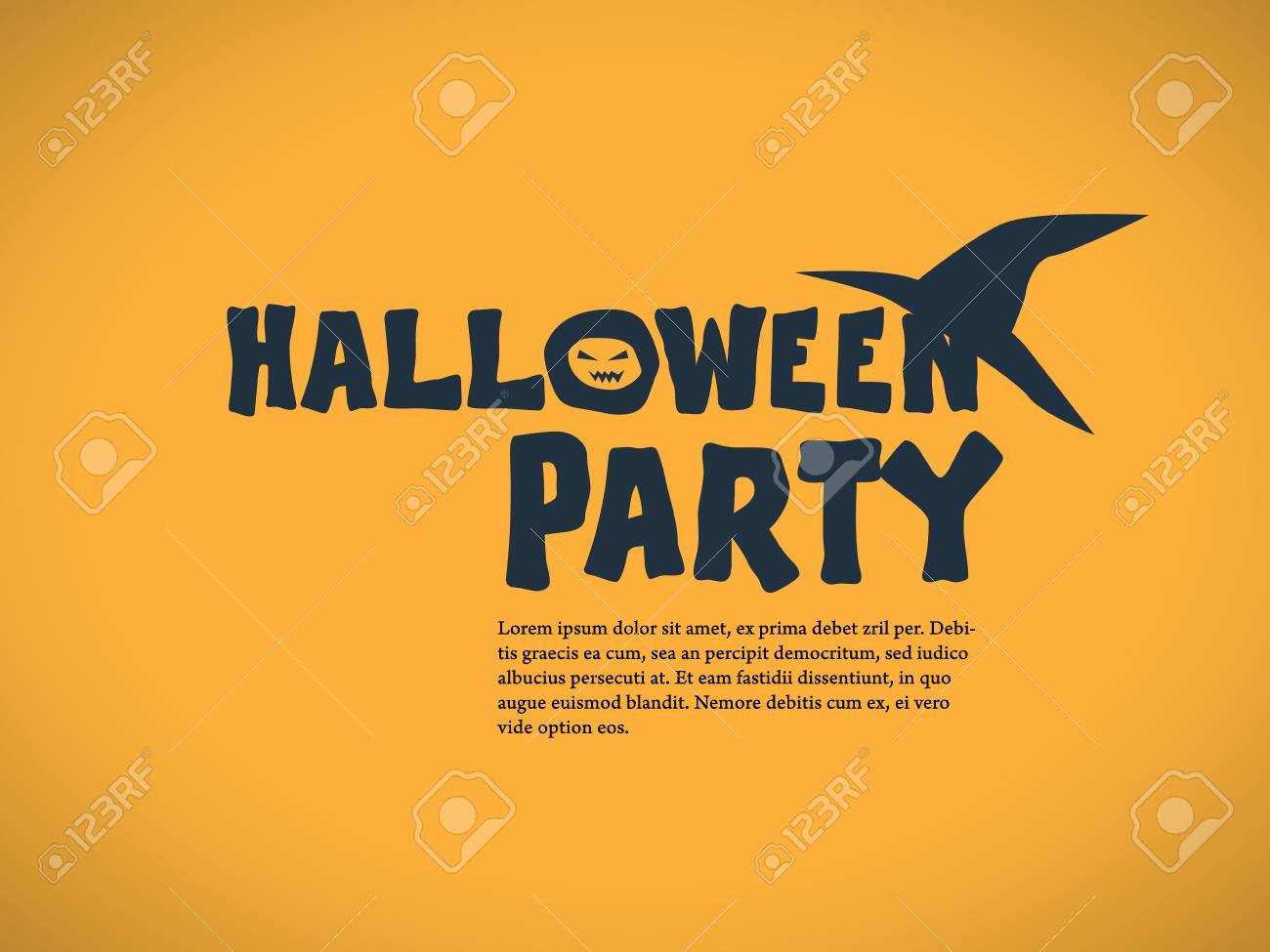 Halloween Party Invitation Template Holiday Celebration Poster Or Card Elegant Typography With Traditional Symbols