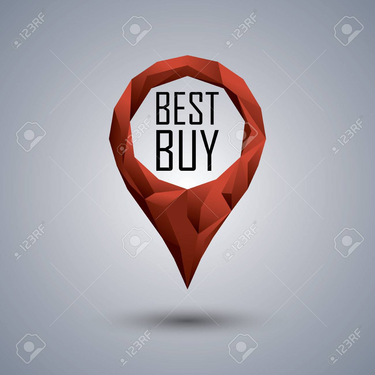 Best Buy Low Poly Icon Polygonal Location Pin With Promotional Royalty Free Cliparts Vectors And Stock Illustration Image 44826158