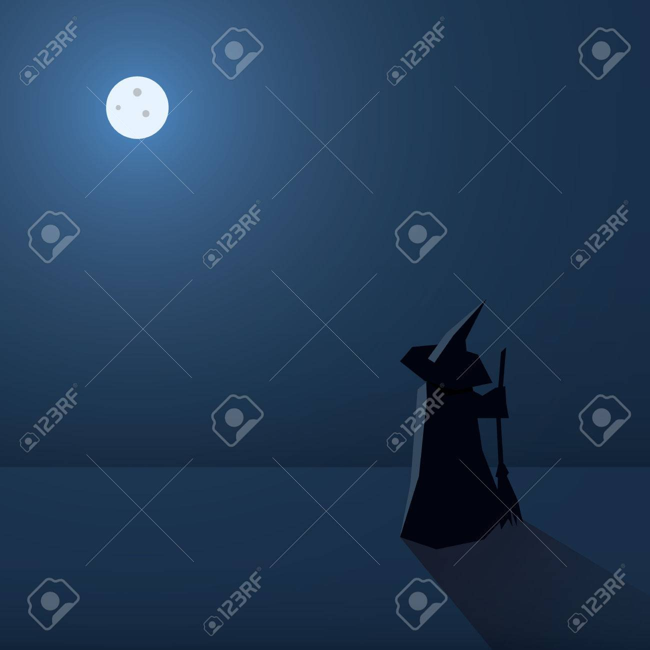 scary halloween card vector background holiday poster template scary halloween card vector background holiday poster template witch silhouette and space for text