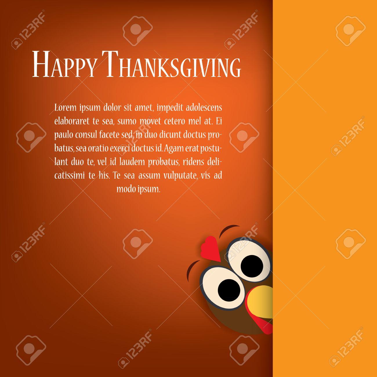 Thanksgiving-Truthahn Vektor. Ferienkarte Vorlage. Traditionelle ...