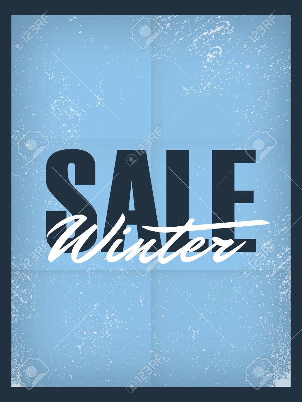 winter sale poster template discounts and special offers