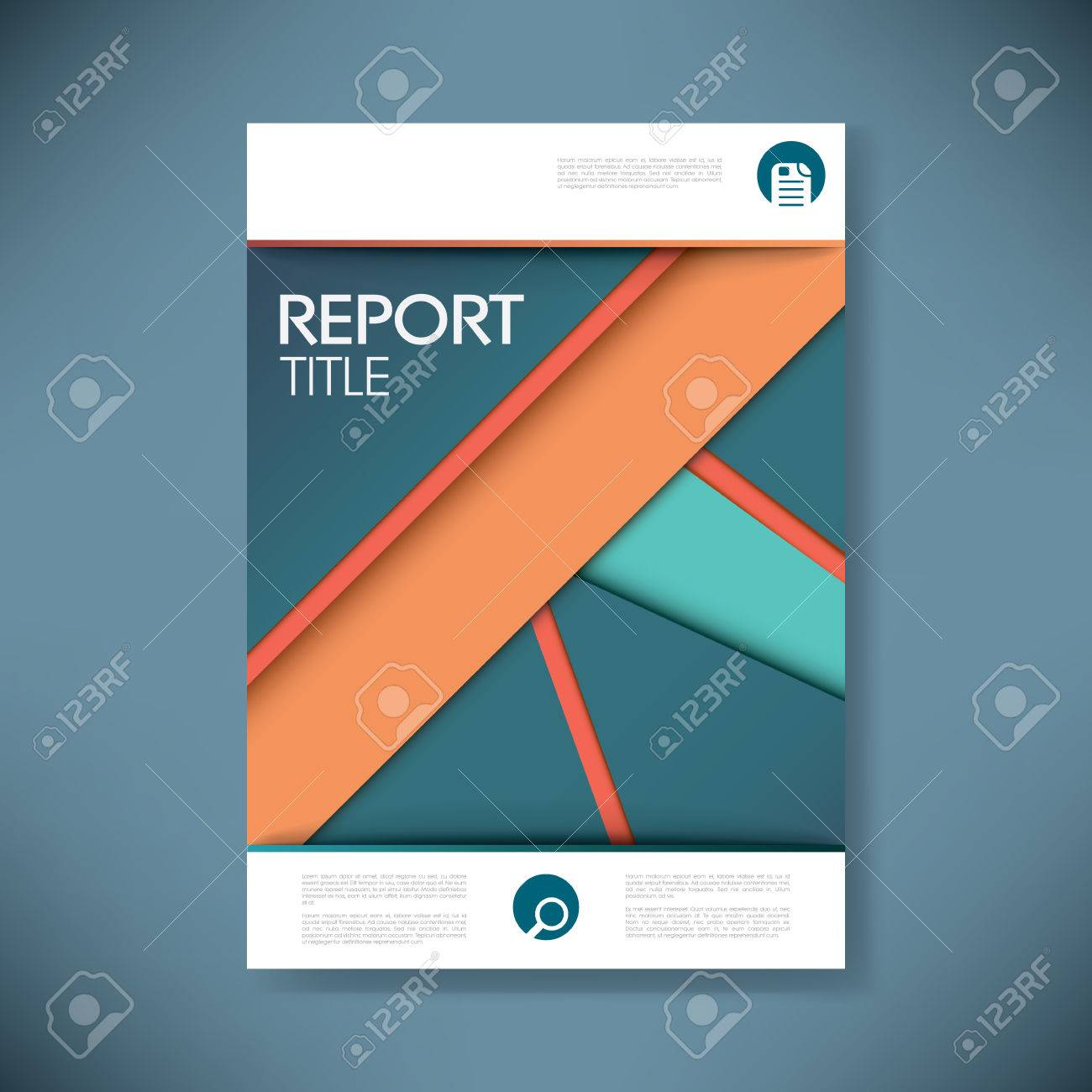 report cover template for business presentation or brochure report cover template for business presentation or brochure vibrant and colorful material design style vector