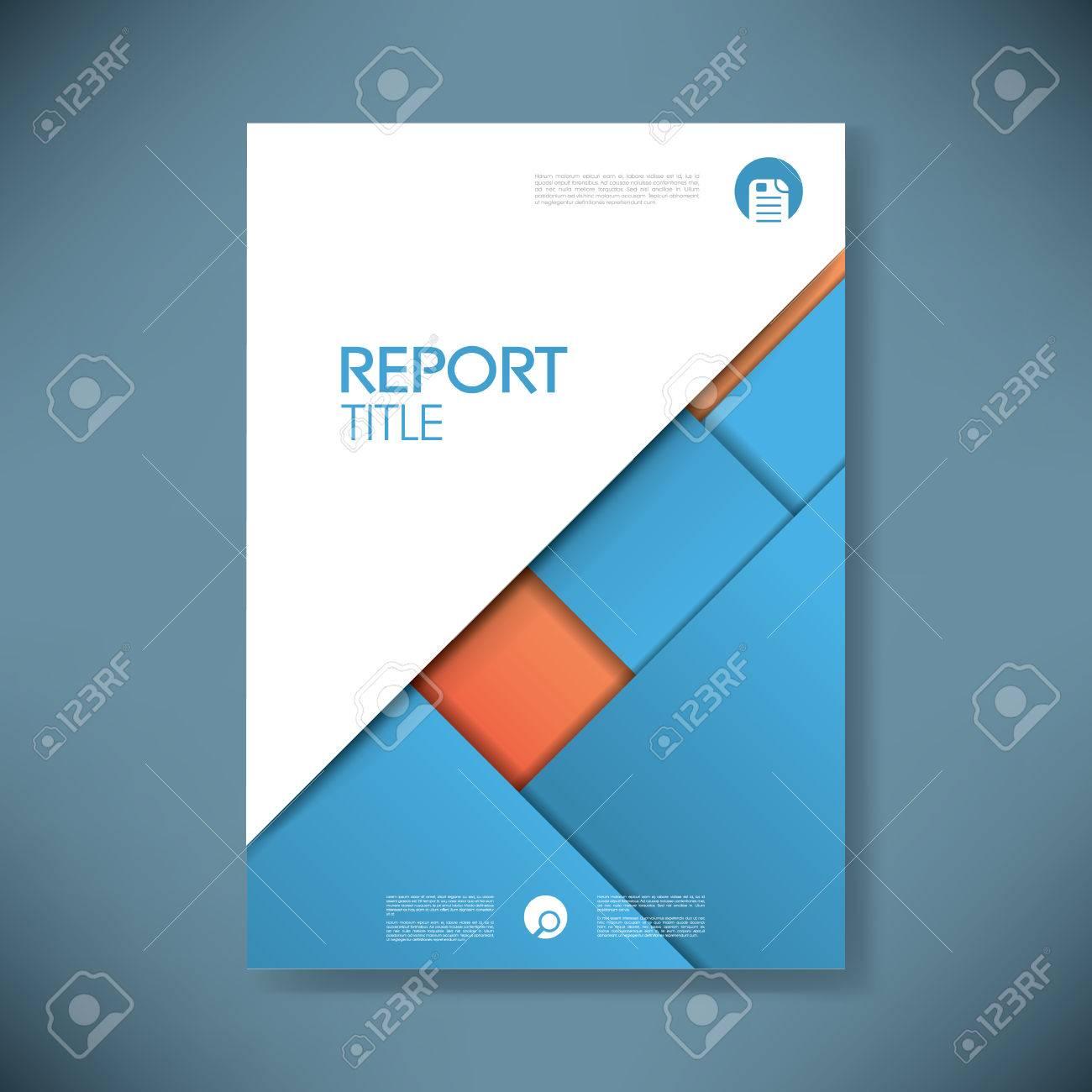 Rapport D Activité De Modèle De Couverture Sur Le Matériel Bleu Design Background