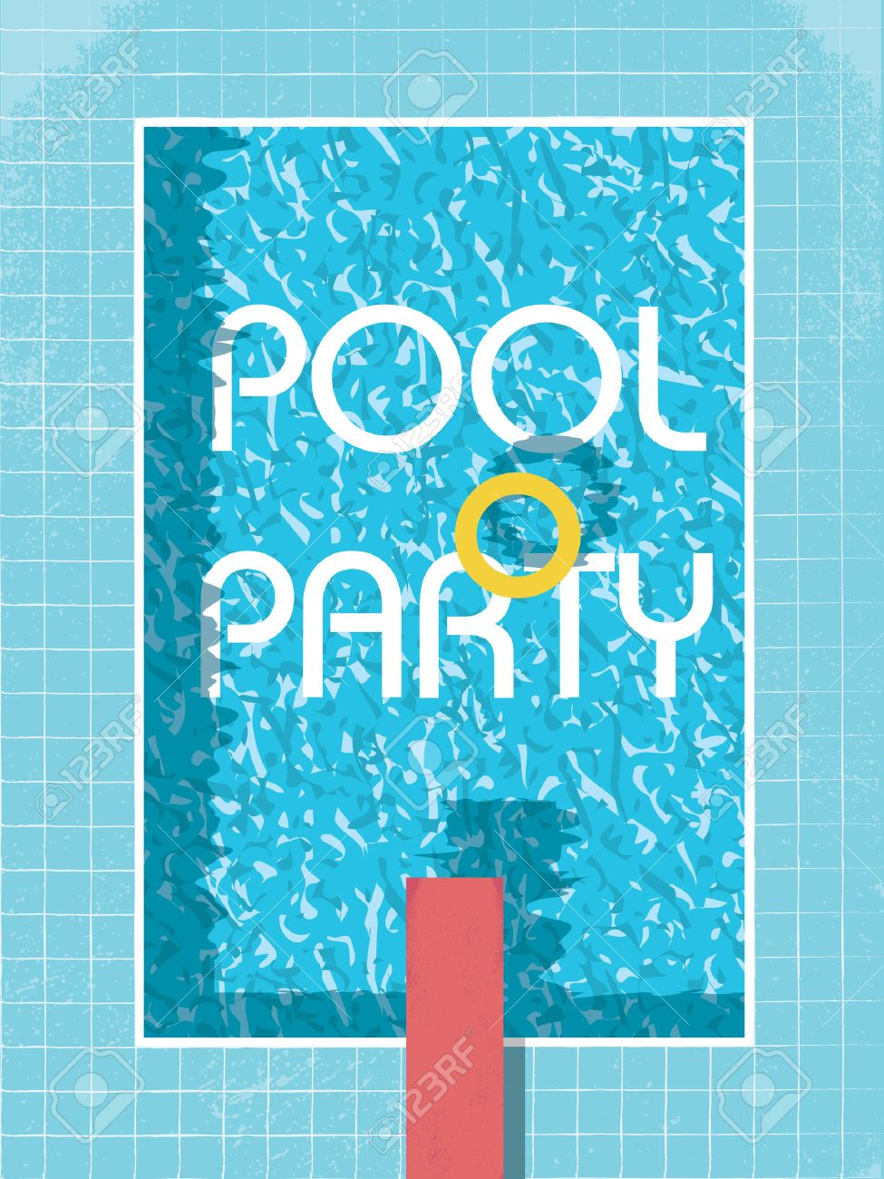 Pool party invitation poster flyer or leaflet template retro pool party invitation poster flyer or leaflet template retro style swimming pool with life monicamarmolfo Gallery