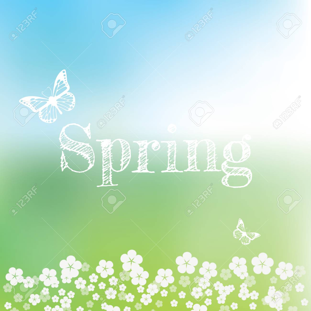 Spring Vector Wallpaper With Bokeh Background And Handwritten