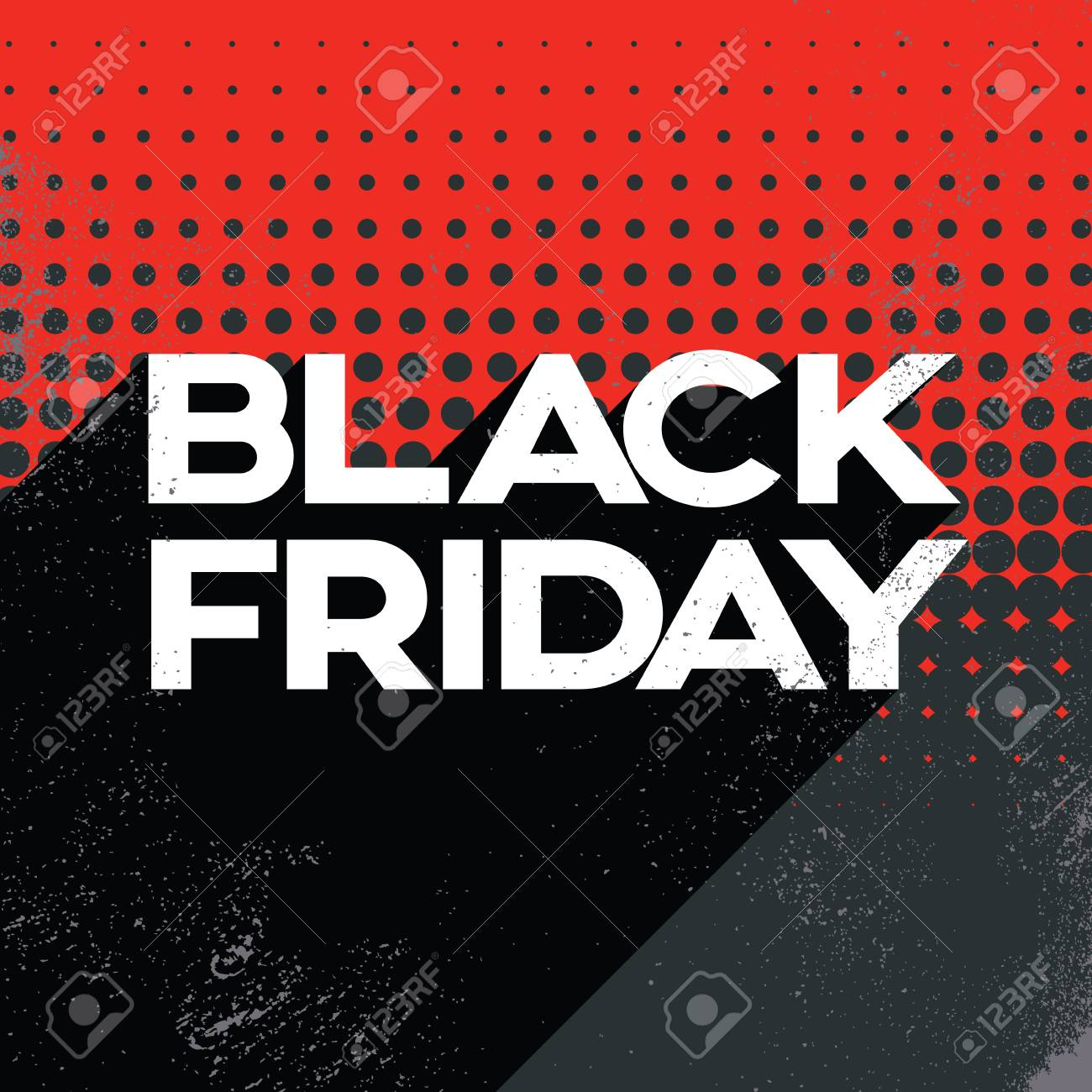 Black friday big sale poster banner template with long shadow.