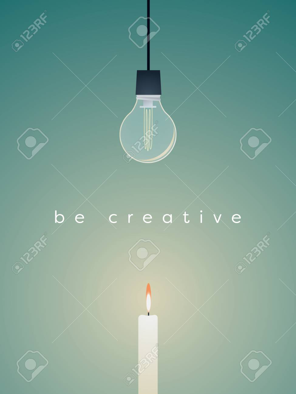Creative Solution Business Vector Concept With Broken Lightbulb ...