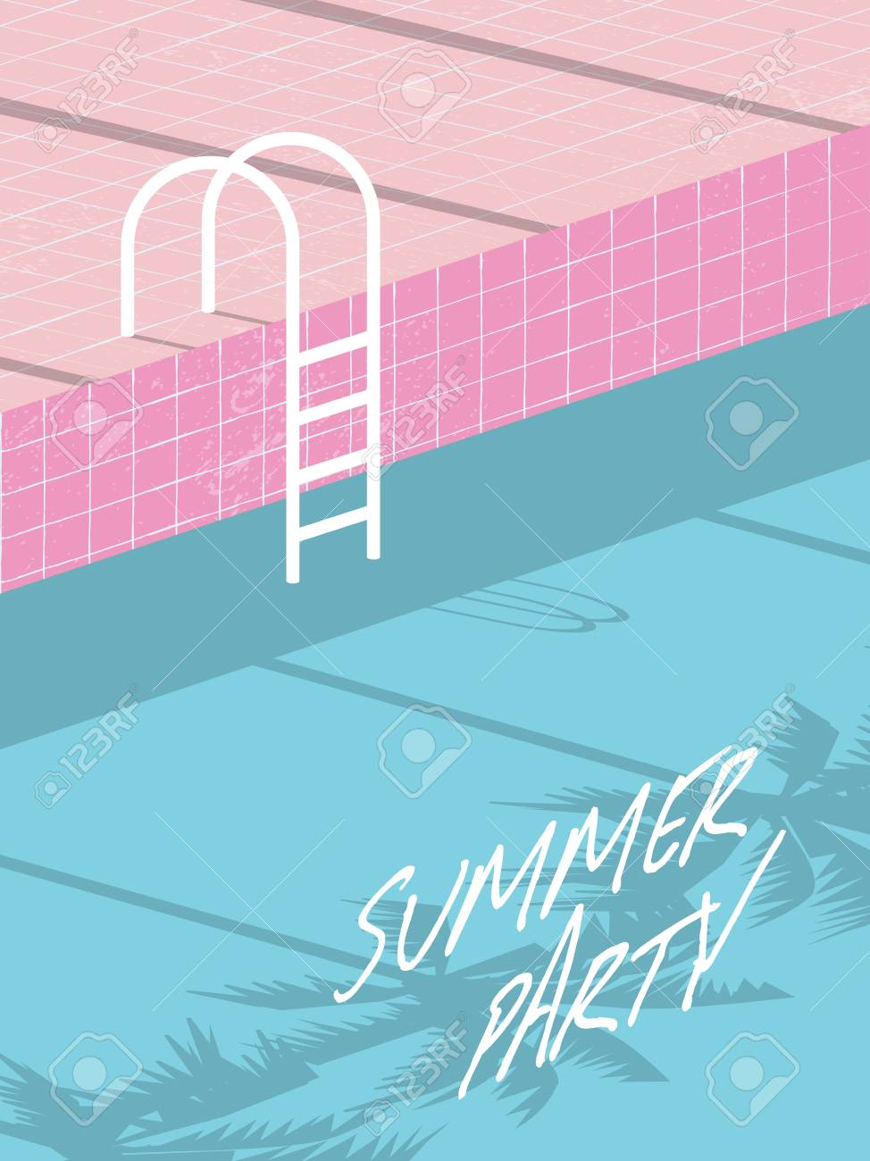 Summer Pool Party Invitation Flyer, Poster, Template, Banner ...