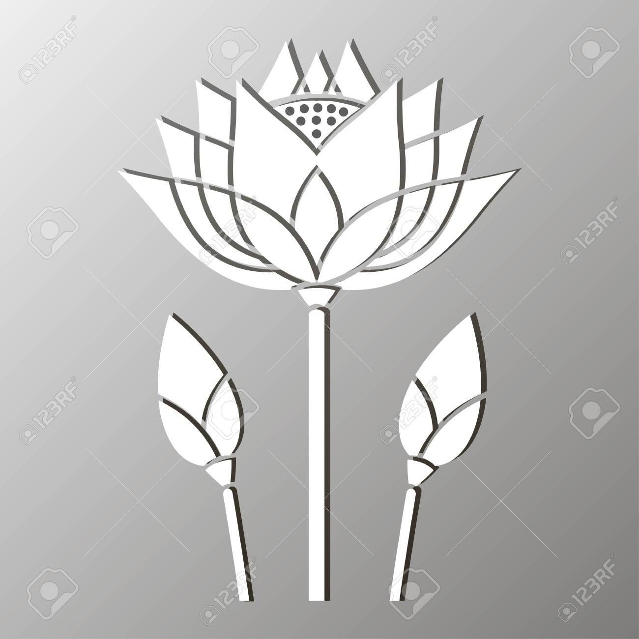 Monochrome mosaic of a stylized lotus flower design royalty free monochrome mosaic of a stylized lotus flower design stock vector 58104059 izmirmasajfo