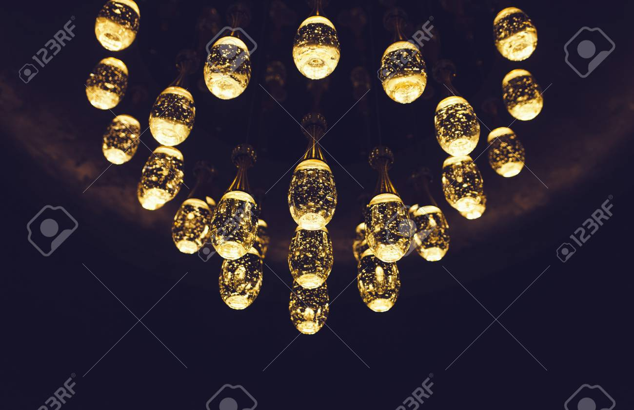 Luxury Lamps, Bulb Decorative In Home Stock Photo   112701468
