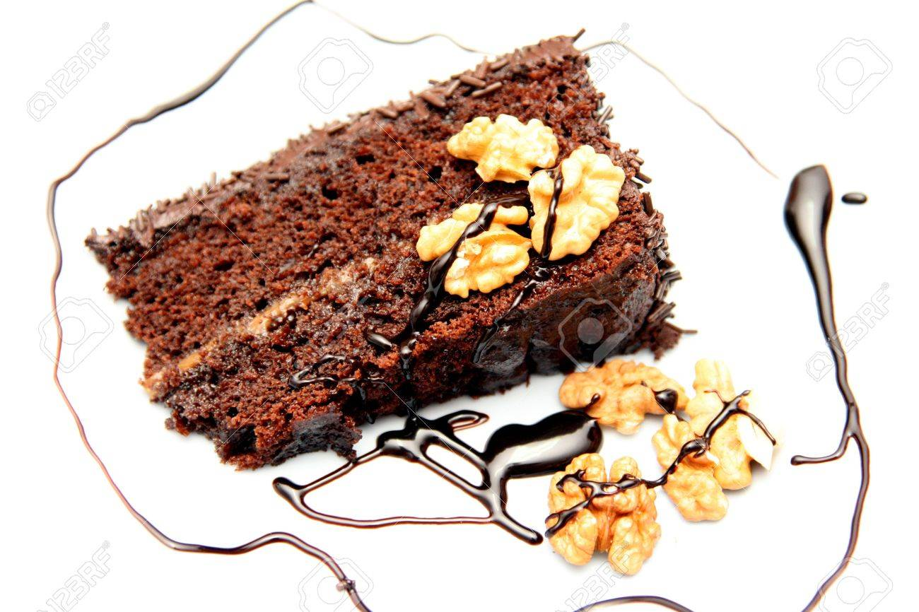 Beautiful And Delicious Chocolate Cake Stock Photo Picture And