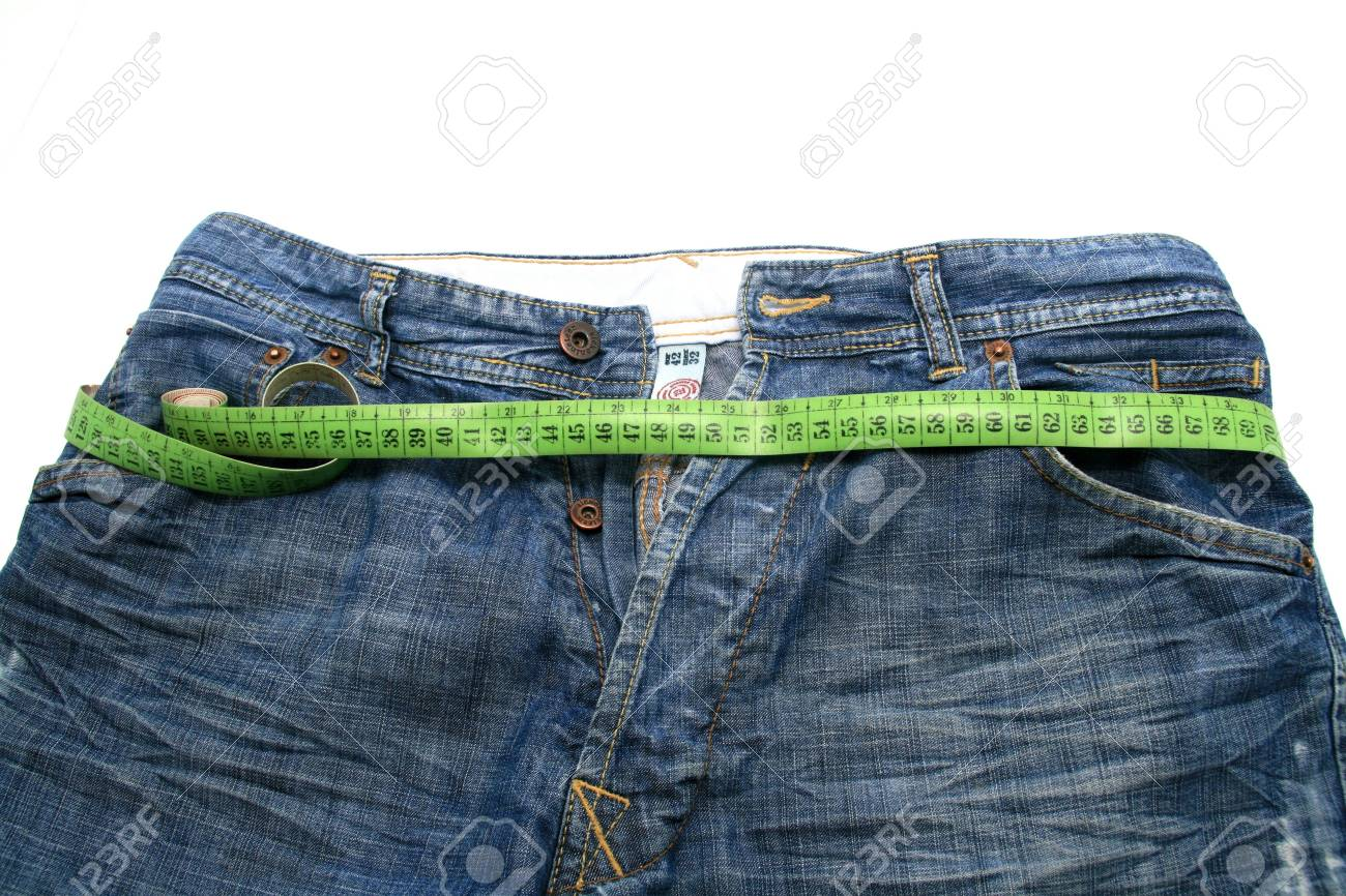 measuring tape around womans trousers, slim photo Stock Photo - 5085012