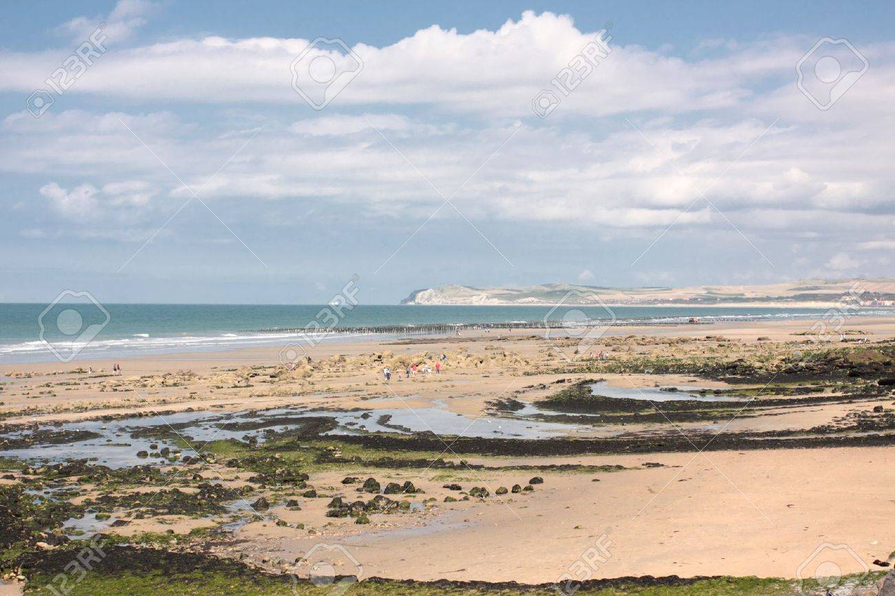 landscape of the Opal Coast in France Stock Photo - 10301132