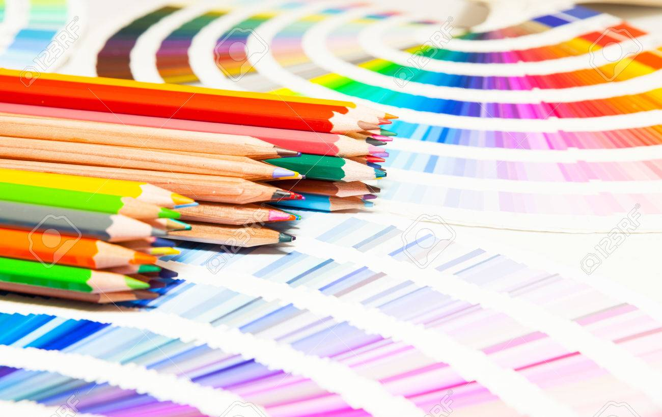 Colored pencils and color chart of all colors stock photo picture colored pencils and color chart of all colors stock photo 48240445 nvjuhfo Image collections
