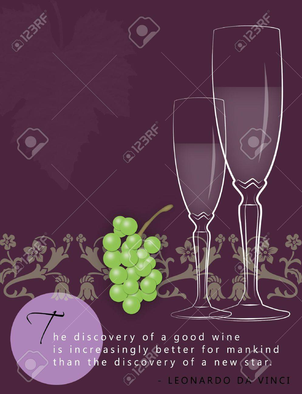 Template for winery ad with space for text. - 8143193