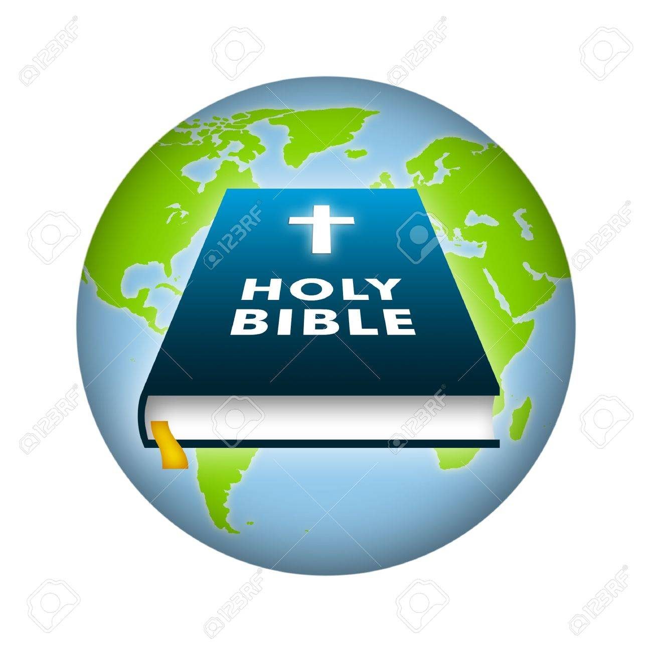 Bible illustration with earth background. - 8677249