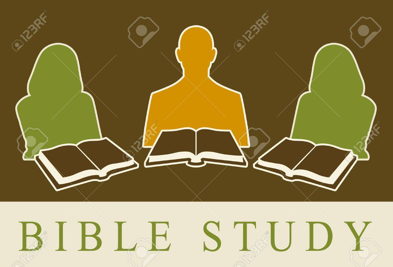 Abstract of people studying the Bible. - 8993495