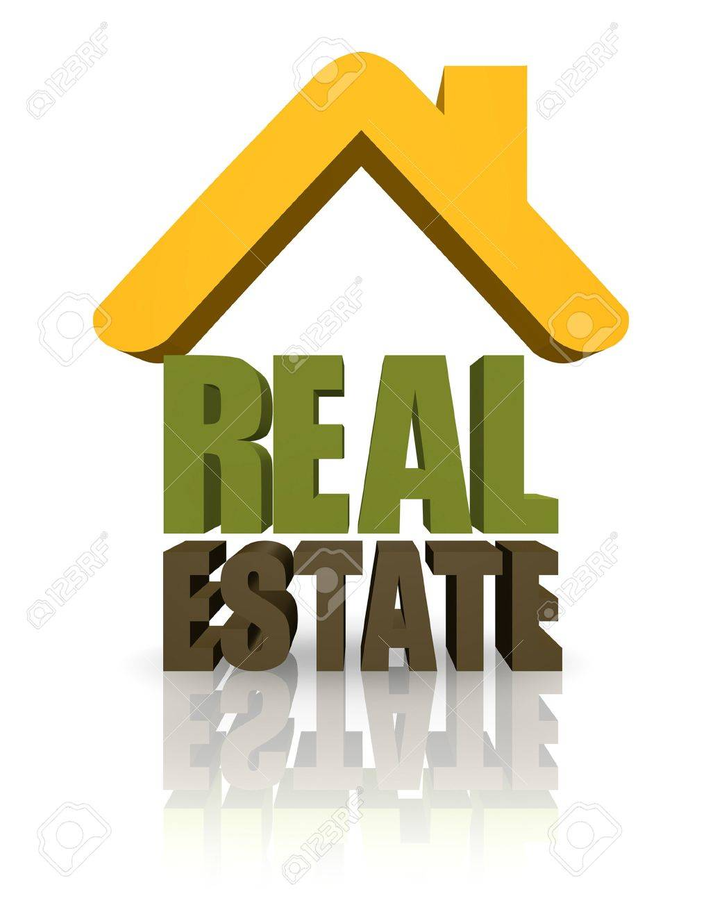 3D sign for real estate with text. - 10265261