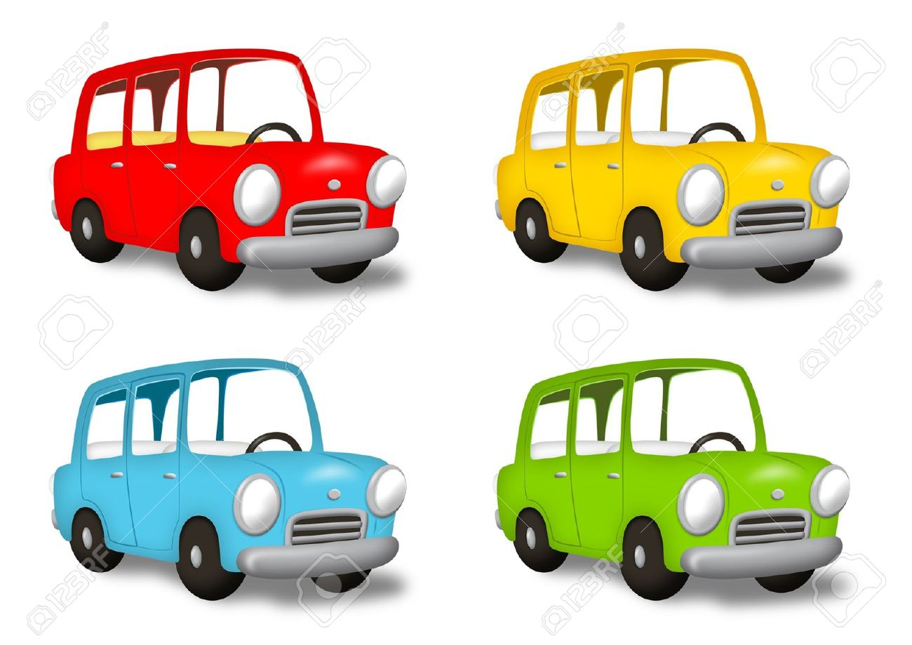 Car in colors red, yellow, green and blue. - 10612150