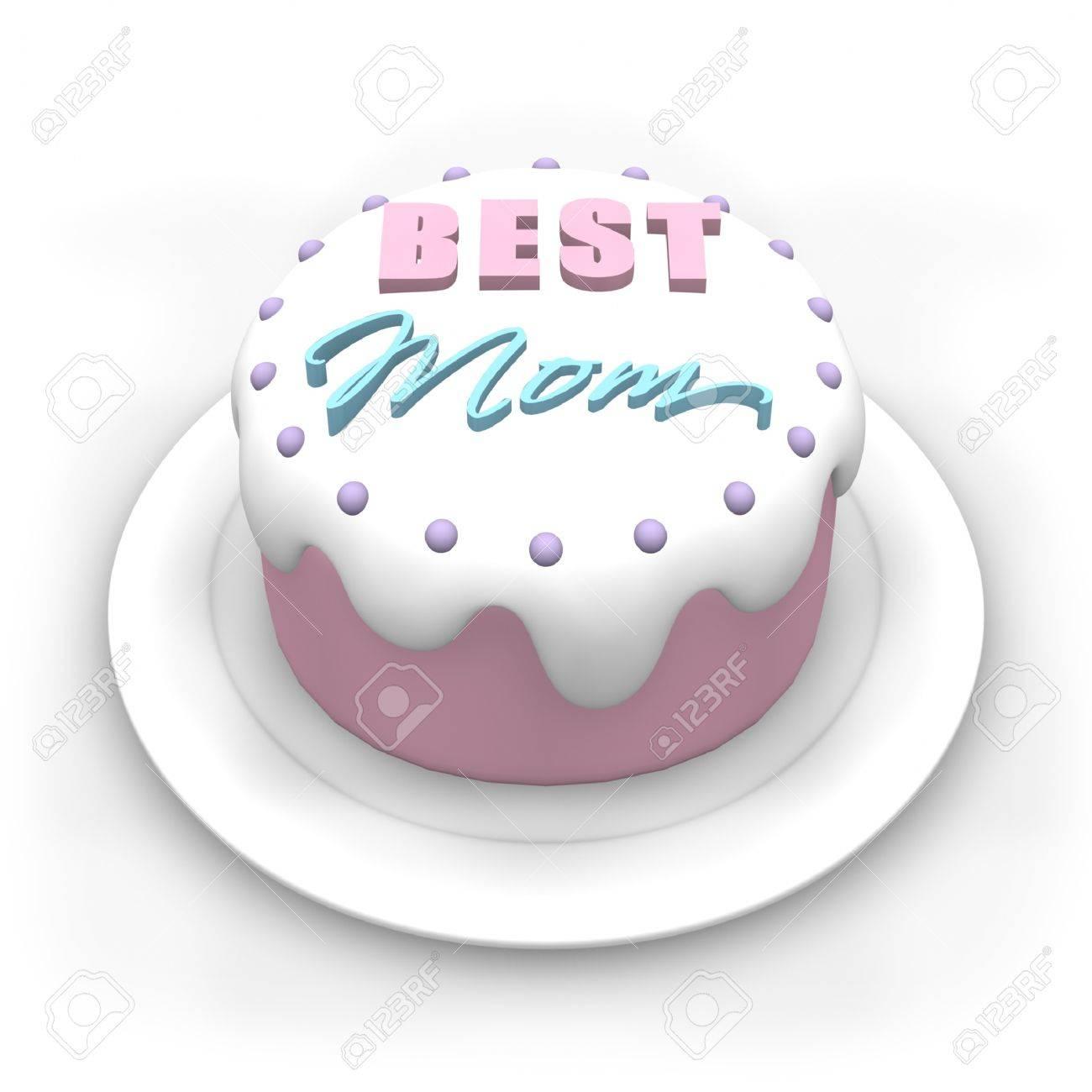 3d Pastellfarbenen Kuchen Fur Muttertag Lizenzfreie Fotos Bilder