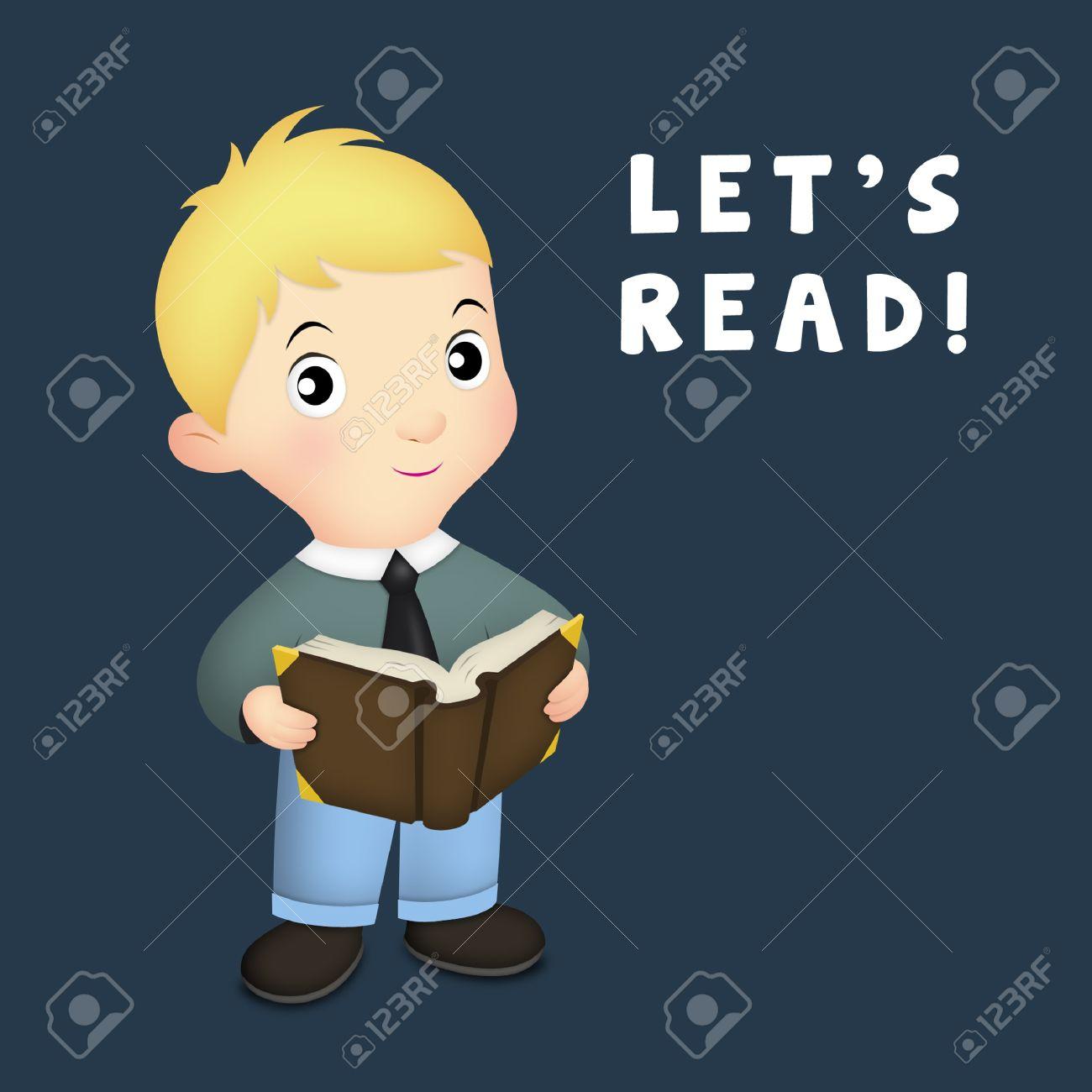 Little boy holding open book. Stock Photo - 13851533