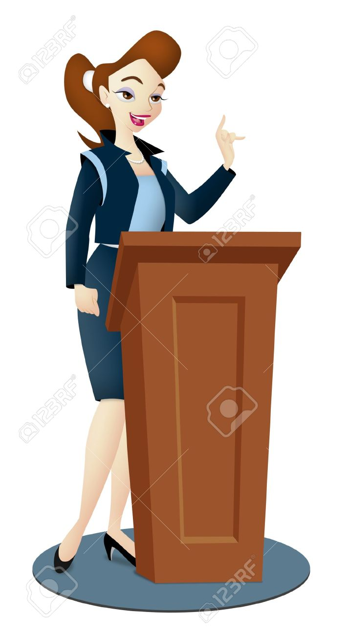 Clip art king martin luther day podium speech 2
