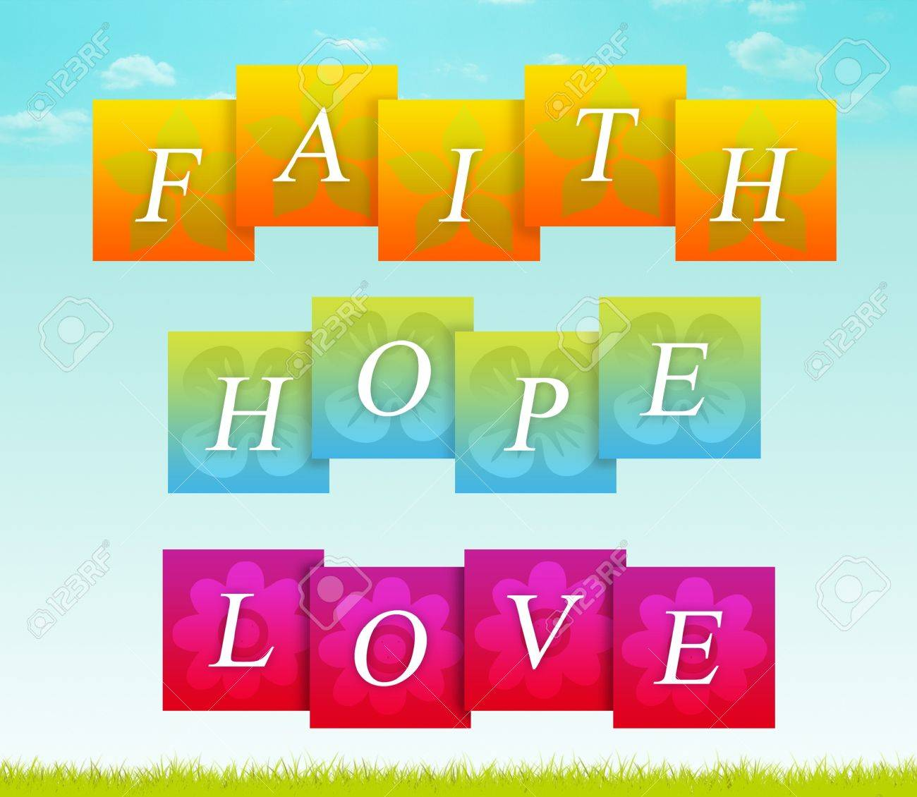 Sign for faith, hope, and love. - 14833080
