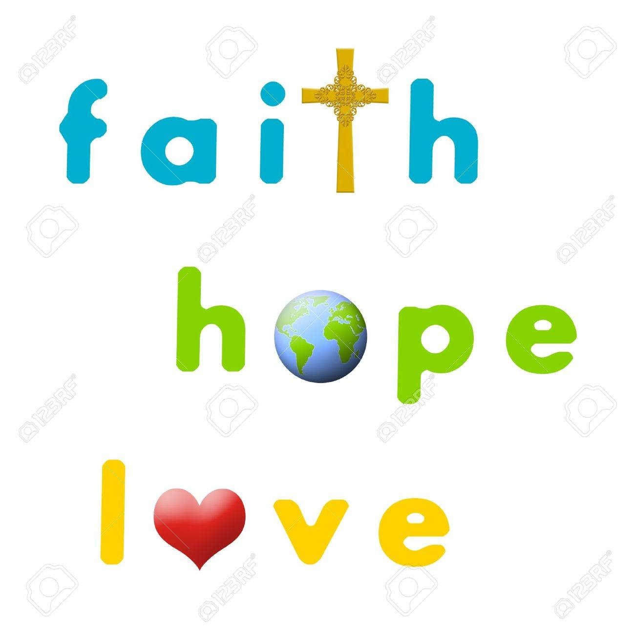 Sign for faith, hope, and love. Stock Photo - 14833034
