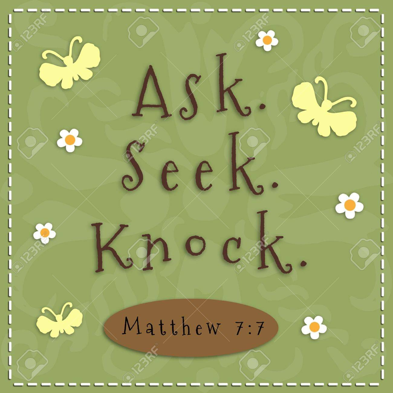 Ask, Seek, Knock sign from Matthew 7 7 - 19706051